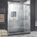 Bath Authority DreamLine Cavalier 56 - 60 in. W x 76 in. H Sliding Shower Door - Polished Stainless Steel SHDR-1560760-08