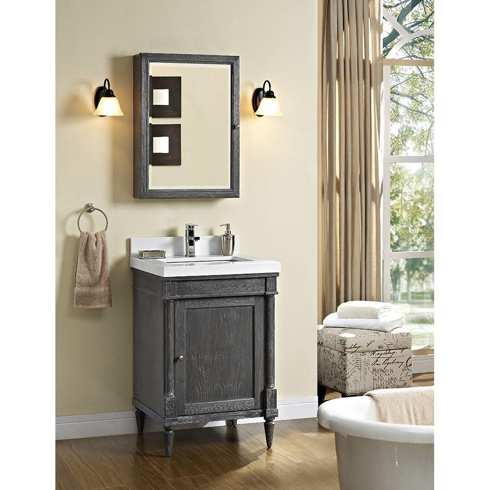 "Fairmont Designs Rustic Chic 24"" Vanity for Quartz Top - Silvered Oaknohtin Sale $1015.00 SKU: 143-V24 :"