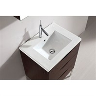 "Madeli Milano 24"" Bathroom Vanity with Integrated Basin - Walnut Milano-24-WA"