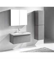 "Madeli Venasca 36"" Bathroom Vanity for Integrated Basin - Ash Grey B990-36-002-AG"
