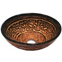 Vigo Industries Copper Mosaic Glass Vessel Sink