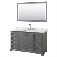 "Deborah 60"" Single Bathroom Vanity by Wyndham Collection - Dark Gray WC-2020-60-SGL-VAN-DKG"
