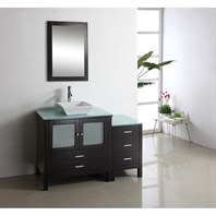 "Virtu USA Brentford 54"" Single Sink Bathroom Vanity - Espresso MS-4454"