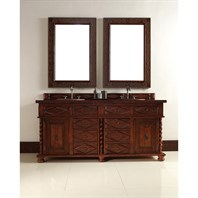 "James Martin 72"" Continental Double Vanity - Burnished Cherry 100-V72-BCH"