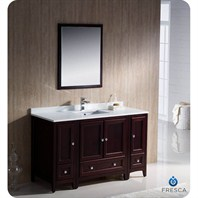"Fresca Oxford 54"" Traditional Bathroom Vanity with 2 Side Cabinets - Mahogany FVN20-123012MH"