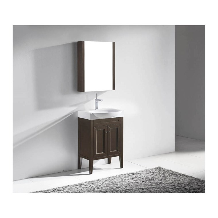 "Madeli Sanremo 24"" Bathroom Vanity - Walnut B924-24-001-WA"
