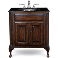 "Cole & Co. 31"" Custom Collection Medium Classic Vanity - Antique Brown"