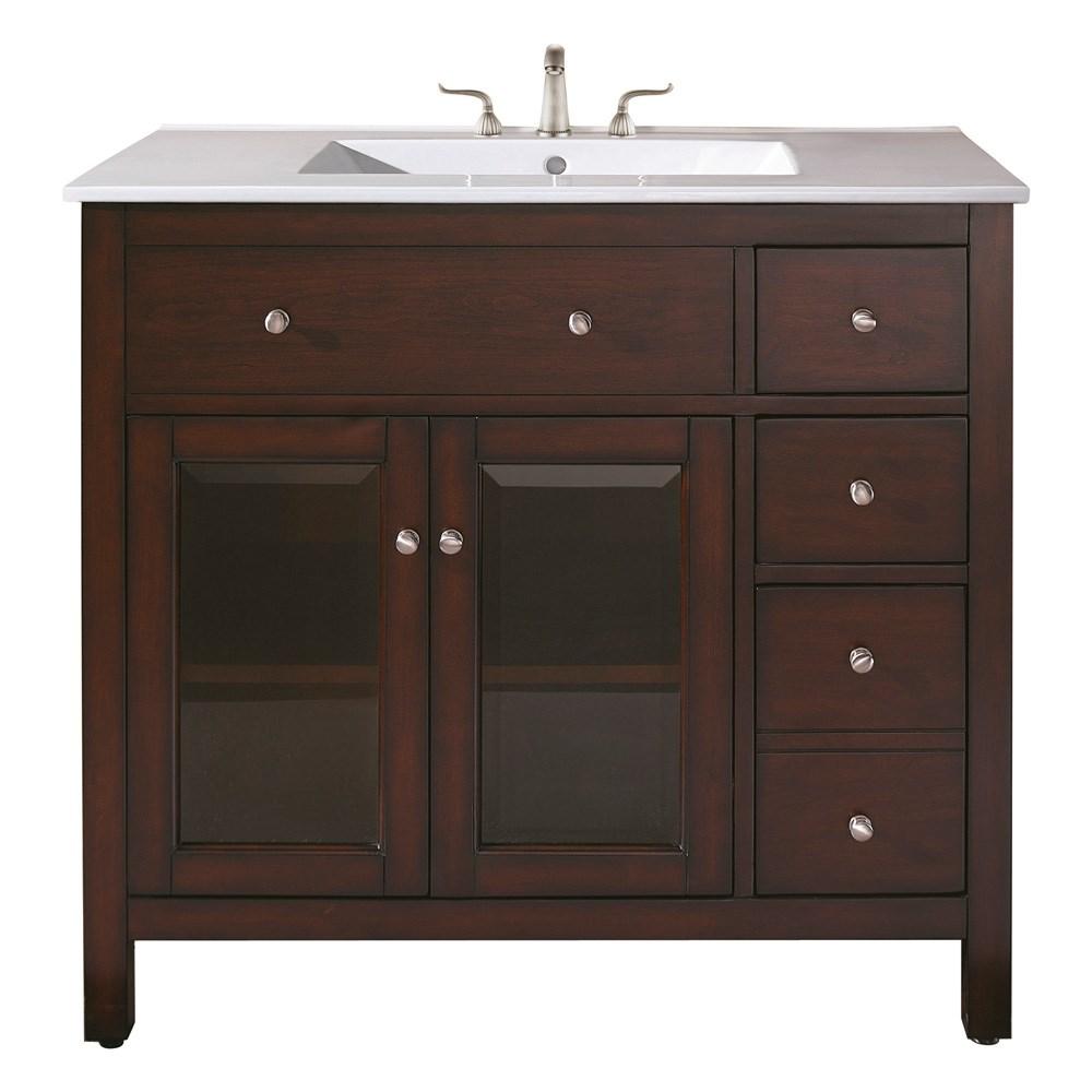 "Avanity Lexington 36"" Bathroom Vanity - Light Espressonohtin Sale $816.00 SKU: LEXINGTON-36-LE :"