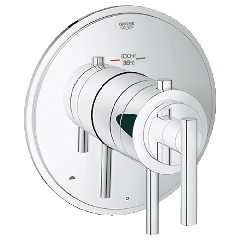 Image of Grohe Atrio Dual Function Thermostatic Trim with Control Module - Starlight Chrome