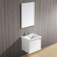 Vigo 23-inch Bianca Single Bathroom Vanity with Mirror - White Gloss VG09034001K