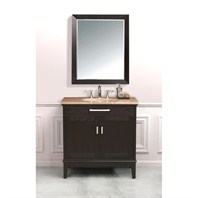 "Virtu USA Emilia 36"" Single Sink Bathroom Vanity - Dark Espresso LS-2123"