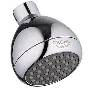 Grohe Relexa Non-Adjustable Shower Head, WaterCare - Chrome