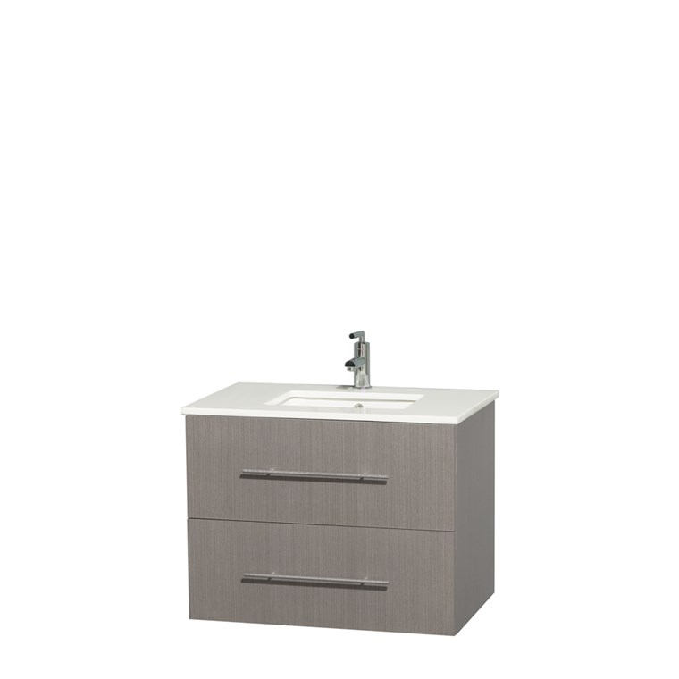 "Centra 30"" Single Bathroom Vanity for Undermount Sinks by Wyndham Collection - Gray Oak WC-WHE009-30-SGL-VAN-GRO-"