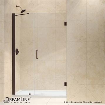 "Bath Authority DreamLine Unidoor Frameless Hinged Shower Door, 41""- 49"" SHDR-20417210C by Bath Authority DreamLine"