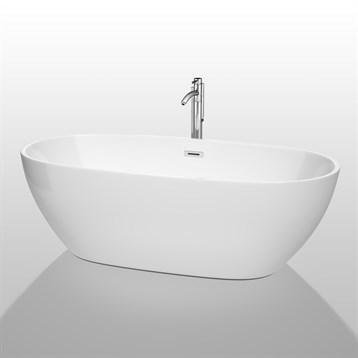 """Juno 71"""" Soaking Bathtub by Wyndham Collection, White WC-BTK1561-71 by Wyndham Collection®"""