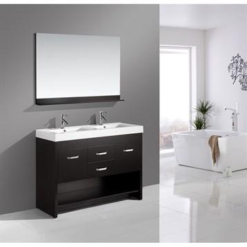 "Design Element Citrus 48"" Double Bathroom Vanity Set, Espresso DEC074 by Design Element"