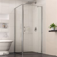 "Bath Authority DreamLine Flex Pivot Shower Door (28-7/16""-32-7/16"") with Return Panel, Chrome Finish Hardware SHDR-2230300-RT-01"