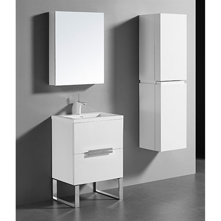 "Madeli Soho 24"" Bathroom Vanity for Integrated Basin - Glossy White B400-24-001-GW"