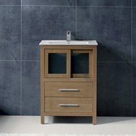 "Vigo 24"" Alessandro Single Bathroom Vanity - White Oak VG09019105K1"