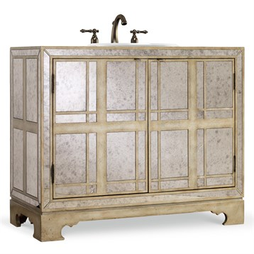 "Cole & Co. 43"" Designer Series Victoria Chest, Antique Mirrored 11.22.275543.69 by Cole & Co."