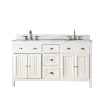 "Avanity Hamilton 60"" Double Bathroom Vanity, French White HAMILTON-60-FW by Avanity"