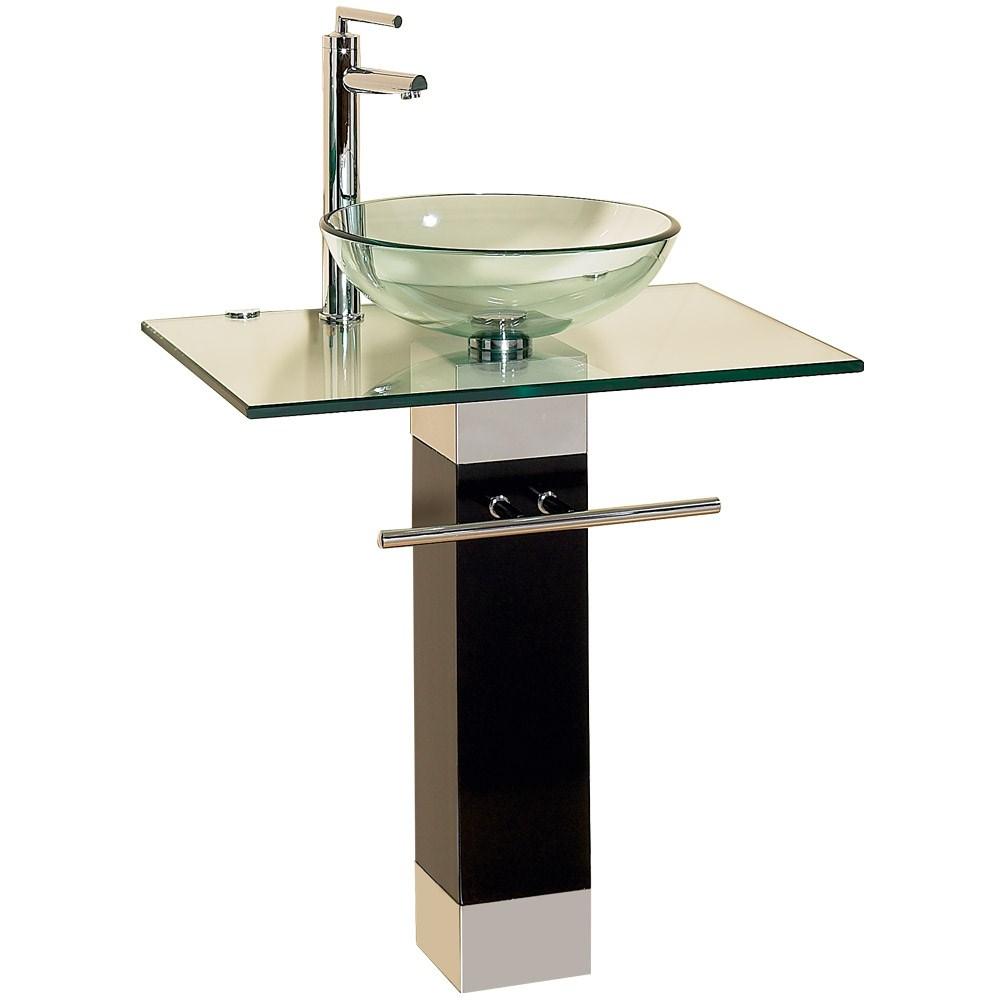 Bathroom Vanity With Round Gl Sink