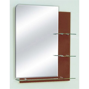 zhj26 bathroom mirror with glass shelves 26 x 32 chocolate