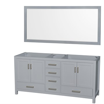 Sheffield 72 Double Bathroom Vanity By Wyndham Collection