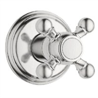 Grohe Geneva Trim Volume Control with Cross Handle - Infinity Brushed Nickel