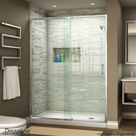 Bath Authority DreamLine Flex 44 - 48 in. W x 72 in. H Pivot Shower Door - Chrome Finish Hardware SHDR-22487200-01