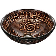 VIGO Aztec Glass Vessel Bathroom Sink VG07030