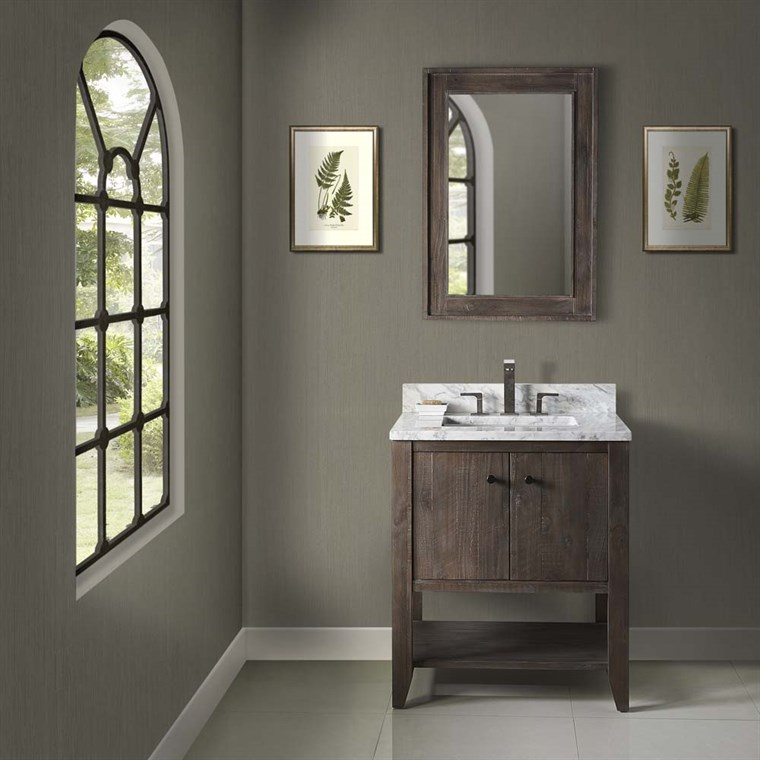 "Fairmont Designs River View 30"" Open Shelf Vanity - Coffee Bean 1516-VH30"