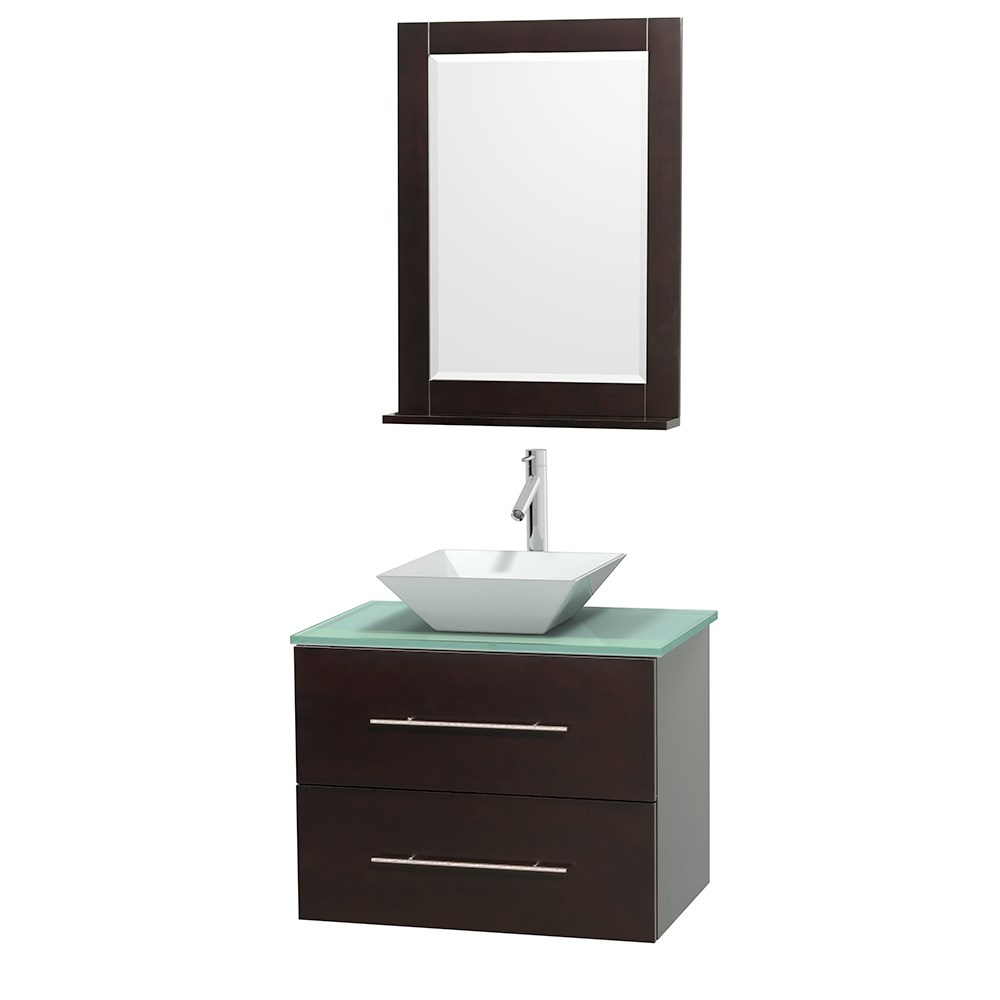 "Centra 30"" Single Bathroom Vanity for Vessel Sink by Wyndham Collection - Espressonohtin Sale $824.00 SKU: WC-WHE009-30-SGL-VAN-ESP_ :"