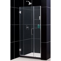 "Bath Authority DreamLine Unidoor Frameless Adjustable Shower Door with Glass Shelves (36""-37"") SHDR-20367210CS"
