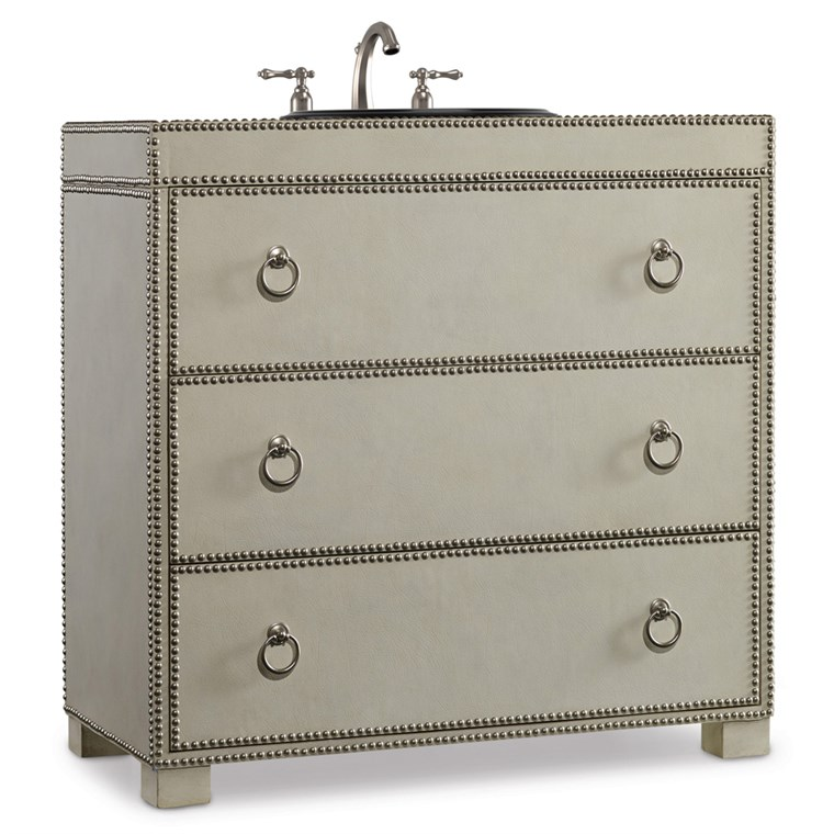 "Cole & Co. 36"" Designer Series Mackenzie Hall Chest - Light Creme Robus Leather 11.22.275536.63"
