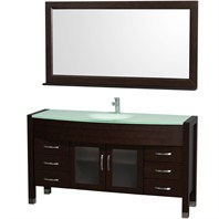 "Daytona 60"" Bathroom Vanity with Mirror by Wyndham Collection - Espresso WC-A-W2109-60-ESP"