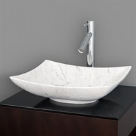 Arista Vessel Sink by Wyndham Collection - White Carrera Marble WC-GS006