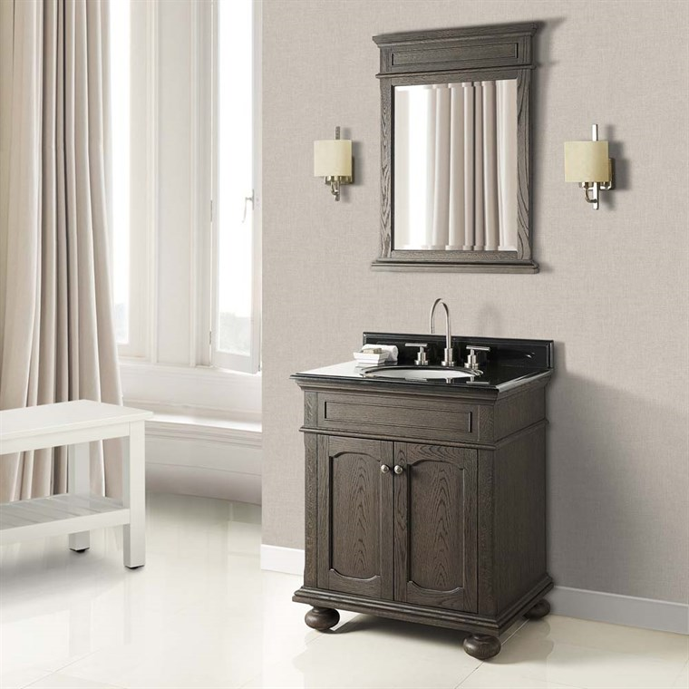 "Fairmont Designs Oakhurst 30"" Vanity for Undermount Oval - Burnt Chocolate 1536-V30_"