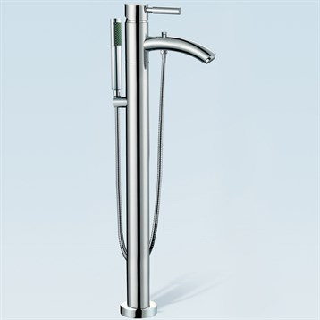 Taron Floor-Mounted Bathtub Faucet by Wyndham Collection | Free ...