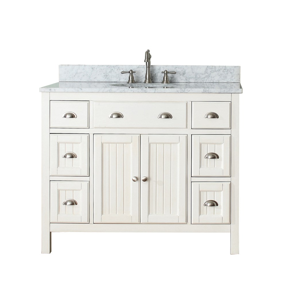 "Avanity Hamilton 42"" Single Bathroom Vanity - French Whitenohtin Sale $884.00 SKU: HAMILTON-42-FW :"
