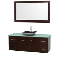 "Centra 60"" Single Bathroom Vanity Set for Vessel Sink by Wyndham Collection - Espresso WC-WHE009-60-SGL-VAN-ESP"