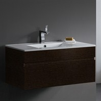 Vigo 35-inch Single Bathroom Vanity - Wenge VG09008104K1