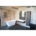 Aquatica Inflection B-L-Wht Large Corner Cast Stone Bathtub - High Gloss White Aquatica Infl-B-L-Wht