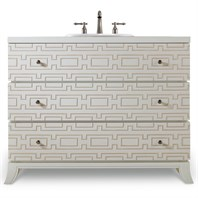 "Cole & Co. 43"" Designer Series Penelope Hall Chest - Brilliant Diamond White 11.22.275543.61"
