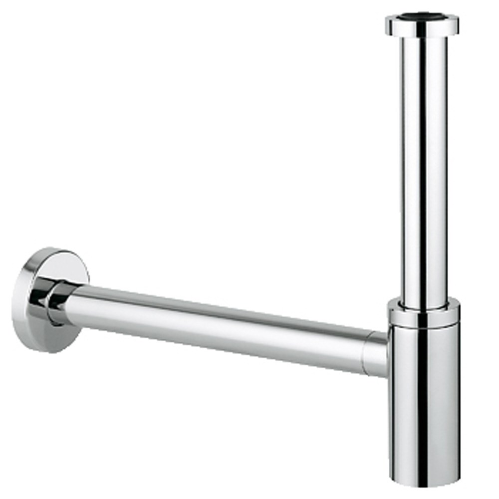 "Grohe Basin Waste Trap 1-1/4"" - Starlight Chromenohtin Sale $215.99 SKU: GRO 28912000 :"