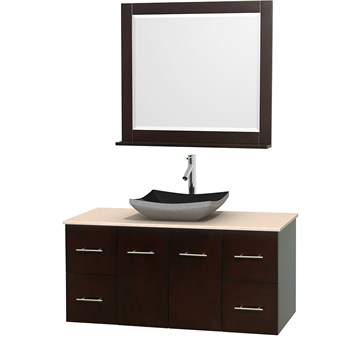 "Centra 48"" Single Bathroom Vanity for Vessel Sink by Wyndham Collection, Espresso WC-WHE009-48-SGL-VAN-ESP_ by Wyndham Collection®"