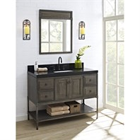 "Fairmont Designs Toledo 48"" Vanity with Doors for Quartz Top - Driftwood Gray 1401-48"