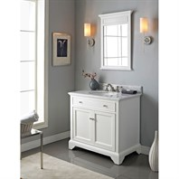 "Fairmont Designs Framingham 36"" Vanity - Polar White 1502-V36"