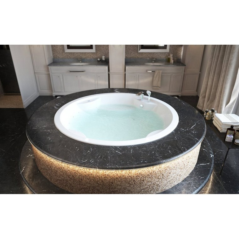 Aquatica Allegra-Wht Built-In Relax Air Massage Bathtub - White Aquatica Allegra-Blt-Rlx