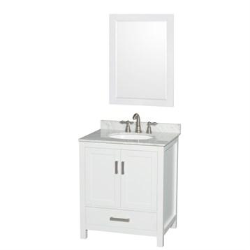 Sheffield Single Bathroom Vanity By Wyndham Collection White - Wyndham bathroom vanities